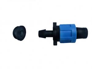 Cút nối (khởi thủy) ống nhỏ giọt dẹt với ống PVC thông qua mũi khoan 16mm