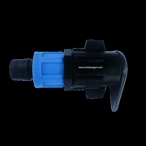 Cút nối gài 17mm sử dụng để nối ống nhỏ giọt dẹt với ống dẫn nước dẻo