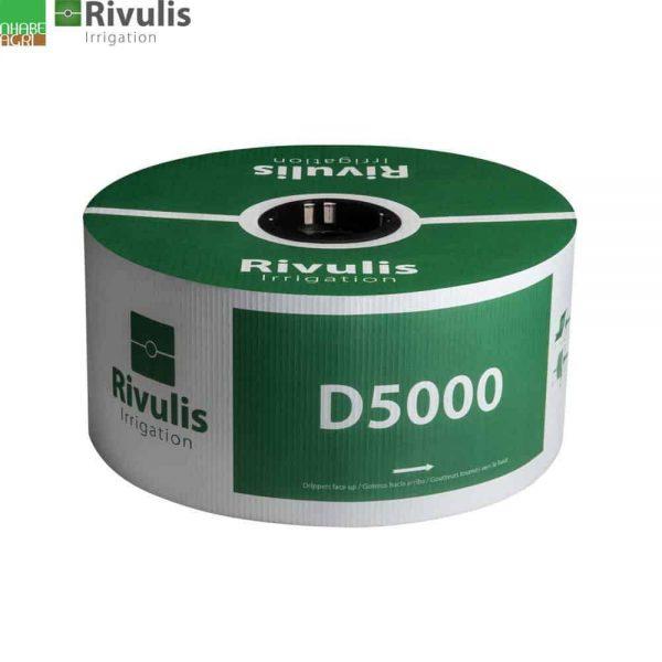 Dây nhỏ giọt Rivulis Israel D5000, độ dày 0.38-0.9mm, có nhiều khoảng cách khác nhau từ 30cm-1m
