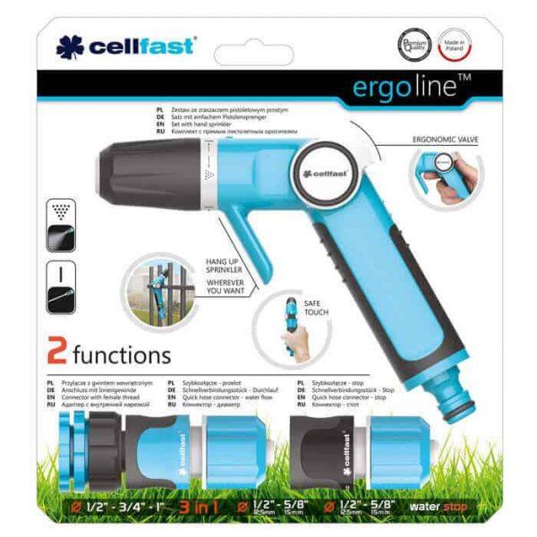 Bộ vòi tưới tay gạt Cellfast ERgo 21mm