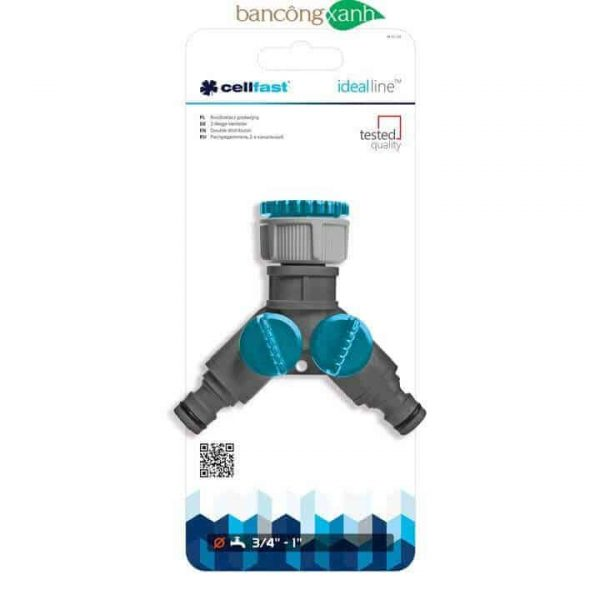 Thiết bị chia 2 nguồn nước Cellfast Ideal line Plus (52-220)