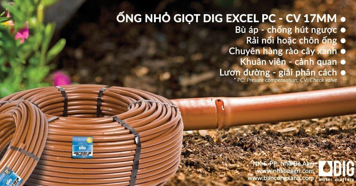 ống tưới nhỏ giọt DIG excel PC CV