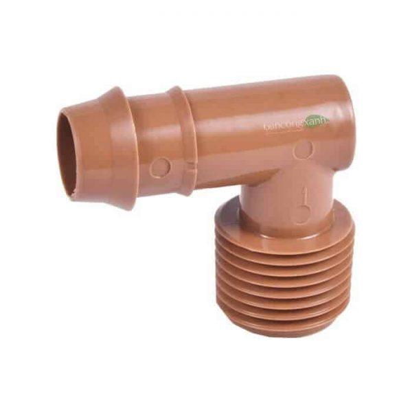Co ống DIG 17mm x ren ngoài 21mm.
